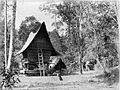 COLLECTIE TROPENMUSEUM Rijstschuur van Bataks in kampong Tekao. TMnr 60001780.jpg