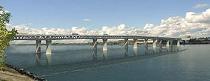 English: Columbia River Crossing concept drawi...