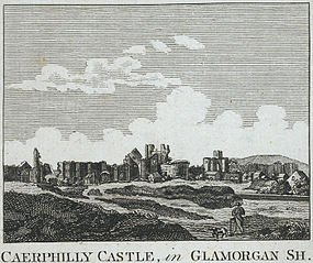 Caerphilly castle, in Glamorgan Sh