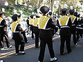 Cal Band en route to Memorial Stadium for 2008 Big Game 22.JPG