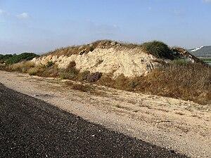 Kurkar - A kurkar ridge near Zikhron Ya'akov, Israel