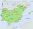 Ausdehnung des Kalifats von Córdoba um das Jahr 1000