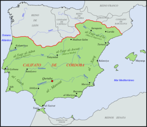 Gharb Al-Andalus - The Caliphate of Córdoba in 1000.