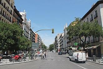 Calle de Fuencarral - View of Calle de Fuencarral from the Glorieta de Bilbao