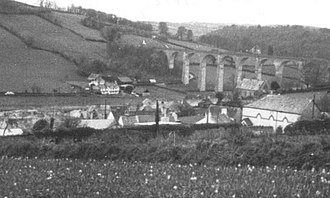 Calstock railway station - Calstock Viaduct in 1972.