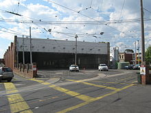 Camberwell tram depot shed, 2011