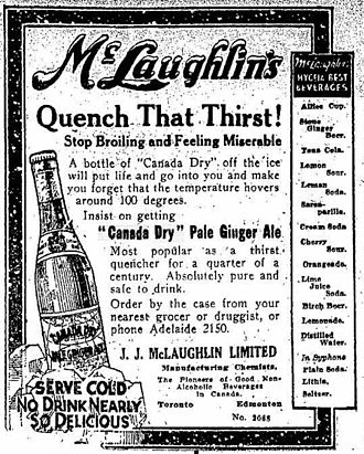 Canada Dry - 1916 Toronto Star ad for the product.