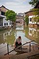 Canal in Zhujiajiao, Qingpu, Shanghai, China.jpg