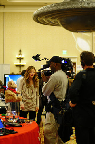 Attack of the Show! - Candace Bailey in the production of an Attack of the Show! episode in January 2011.