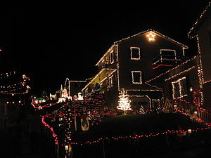 Candy Cane Lane, Duboistown - View looking up the west side of Candy Cane Lane in December 2009