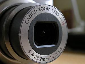 Canon PowerShot - Canon PowerShot A590 lens.