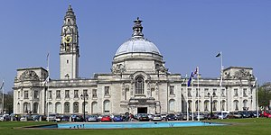 City Hall, Cardiff - Image: Cardiff City Hall cropped