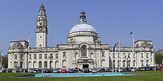City Hall, Cardiff Grade I listed building in Cardiff. Civic building in Cardiff, Wales