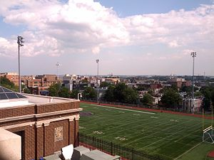 Cardozo Education Campus - The view from Cardozo's parking deck: Florida Ave and Howard University to the southeast and U Street to the south.