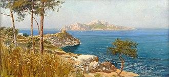 Carlo Brancaccio - Image: Carlo Brancaccio Ansicht von Capri