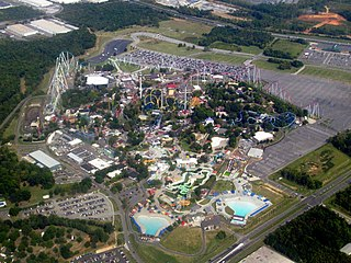 Carowinds Amusement park in North and South Carolina