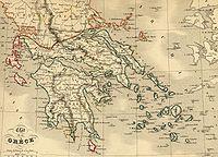 Carte grece 1843