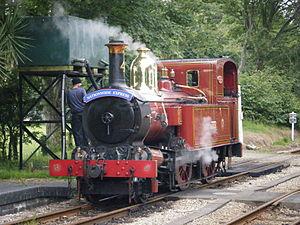 Isle of Man Railway locomotives - No. 4 Loch At Castletown Water Tower, 2012