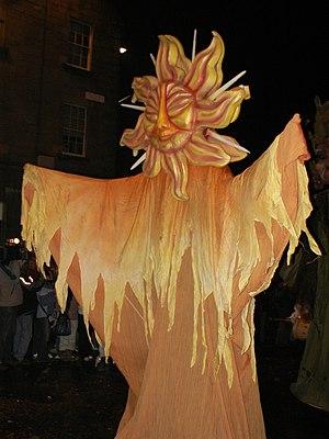 Hogmanay - Catalan Sun Goddess from the Hogmanay Street Party, Edinburgh 2005