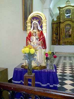 Caracas Cathedral - Statue of the Virgin of Coromoto