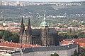 Cathédrale Saint-Guy, Saint Venceslas et Saint-Adalbert de Prague depuis la Tour de Petřín.JPG
