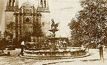 The Plaza de Armas and Cathedral, c.1874. CathPlazaChih1.jpg