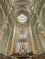 L'interno della cattedrale di Notre-Dame de Coutances