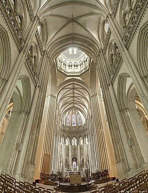 French Gothic architecture - Coutances Cathedral in France