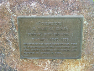 Catlin, Illinois - Potawatomi Trail of Death marker