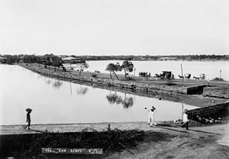 Cavite City - The San Roque causeway connecting Cavite Nuevo to San Roque town (1899)