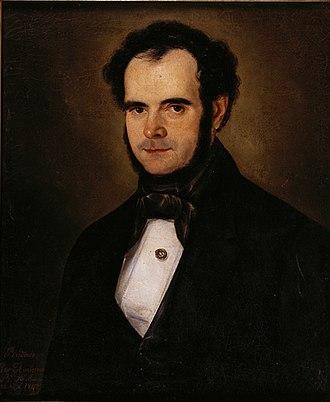 Cayetano Descalzi - Self portrait - 1843
