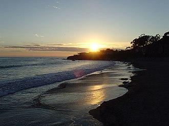 Cayucos State Beach - Cayucos State Beach at Sunset