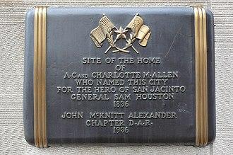 Charlotte Baldwin Allen - Plaque commemorating home site of Charlotte Allen