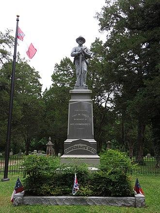 Cedar Hill Cemetery (Suffolk, Virginia) - Confederate memorial at Cedar Hill Cemetery