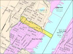 Guttenberg New Jersey Wikipedia - Mapa new jersey