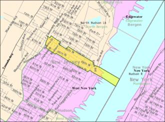 Guttenberg, New Jersey - Image: Census Bureau map of Guttenberg, New Jersey