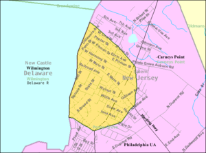 Penns Grove, New Jersey - Image: Census Bureau map of Penns Grove, New Jersey