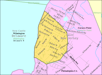 Penns Grove, New Jersey - Image: Census Bureau map of Penns Grove, New Jersey
