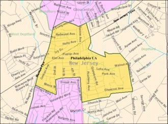 Woodbury Heights, New Jersey - Image: Census Bureau map of Woodbury Heights, New Jersey