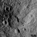 Central Mound at the South Pole Asteroid Vesta Hillshade.png
