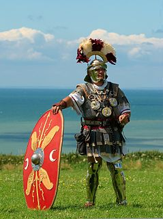 Centurion professional officer of the Roman army