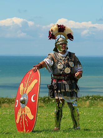 Military uniform - Roman centurion (Historical reenactment).