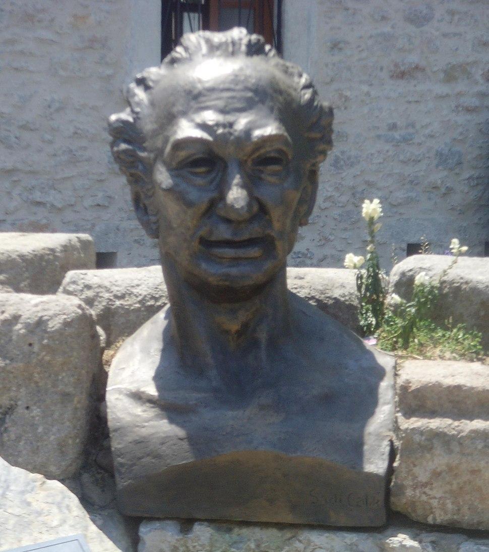 Bust of Cevat Şakir Kabaağaçlı in Bodrum