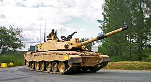 Composite armour - The British Army's Challenger 2 main battle tank uses Chobham armour.