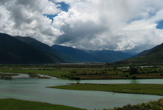 Chamdo - Mekong River to the south of Chamdo Town