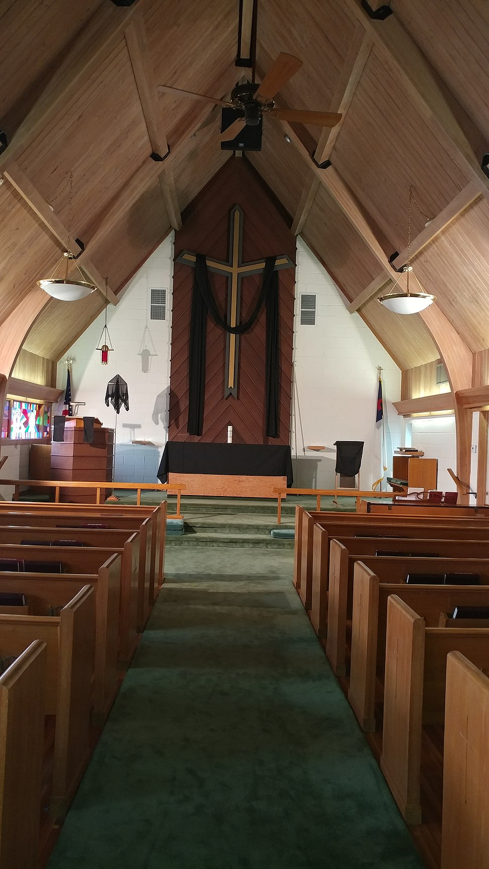 Chancel of Grace Lutheran Church on Good Friday