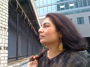 "Postcolonial feminism - Chandra Talpade Mohanty, author of ""Under Western Eyes"""