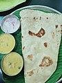 Chapathi with Vegetable Kurma at Gks Santhi Bhavan Villivakkam Chennai India.jpg