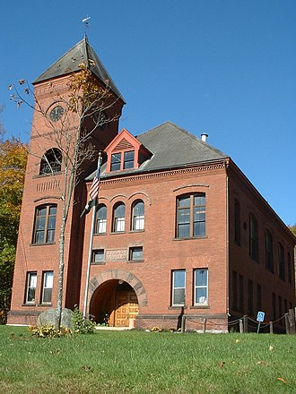 Charlemont, Massachusetts - Goodnow Hall, home of the town offices