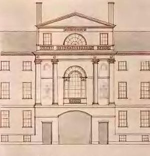 Federal architecture -  Central Pavilion, 1793–94, by Charles Bulfinch, at the Tontine Crescent,  Boston
